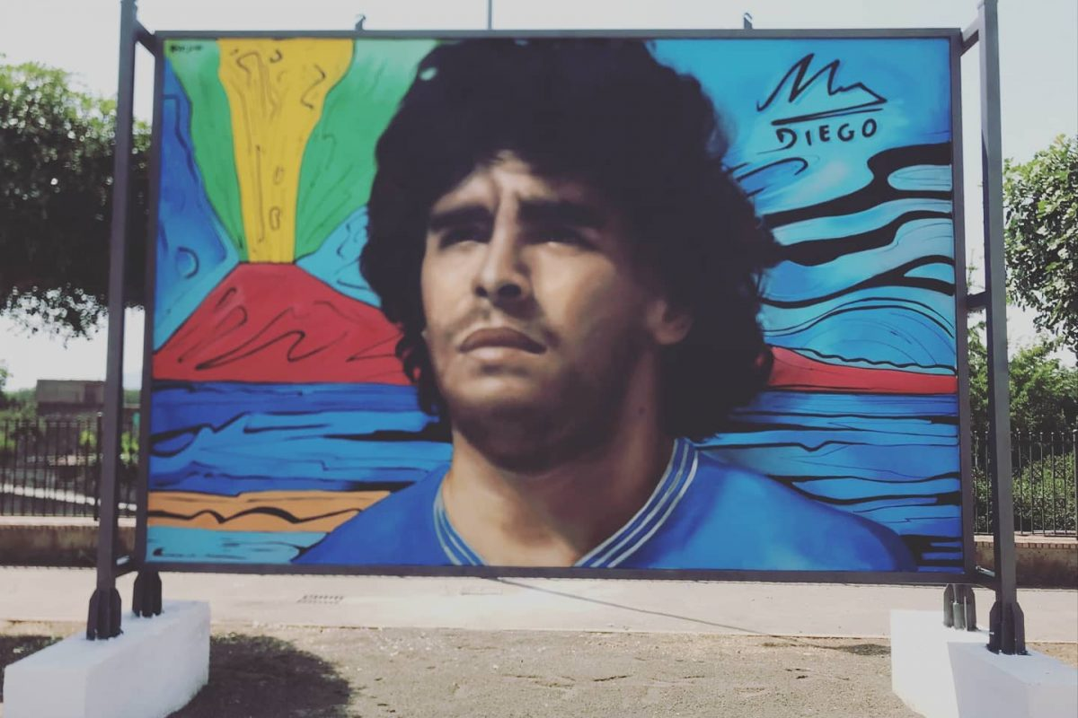Palma Campania: un murale per Diego Maradona